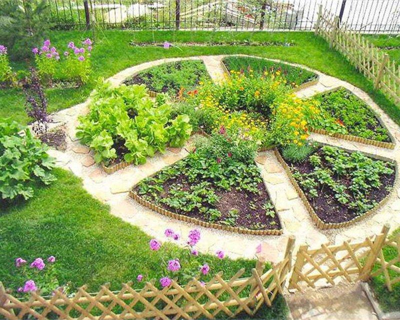 Как сделать огород в клумбе с
