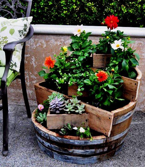 Фото самодельных клумб под цветы